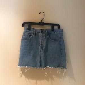 Like New Brandy Melville Denim Skirt w Button Fly